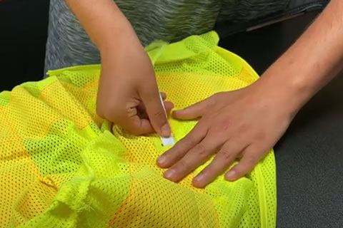 How to insert the LED strands after washing your Nite Beam LED safety vest