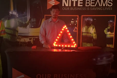 Nite Beam Folding LED Triangle Demo
