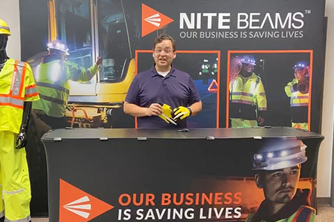 Nite Beam LED Work Glove Demo Video