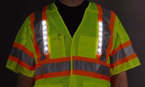 Reflective Safety Vests Provide Light in Shortening Daylight Hours