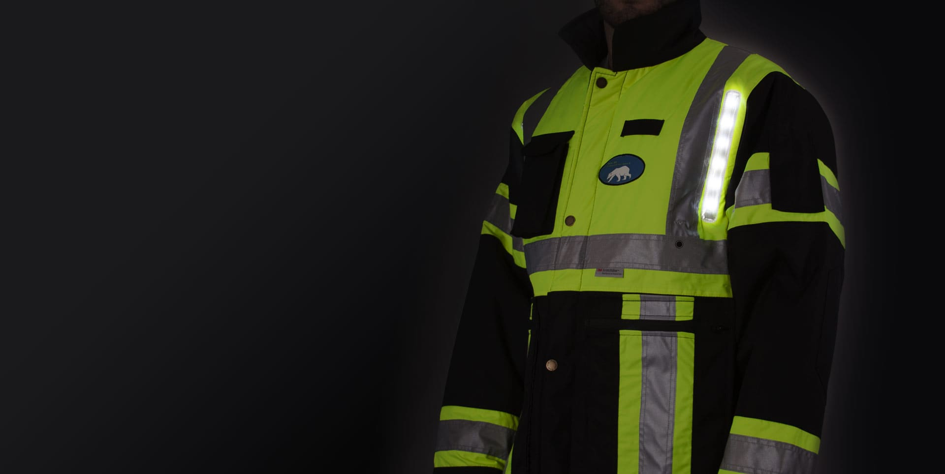 LED lit Safety Jacket