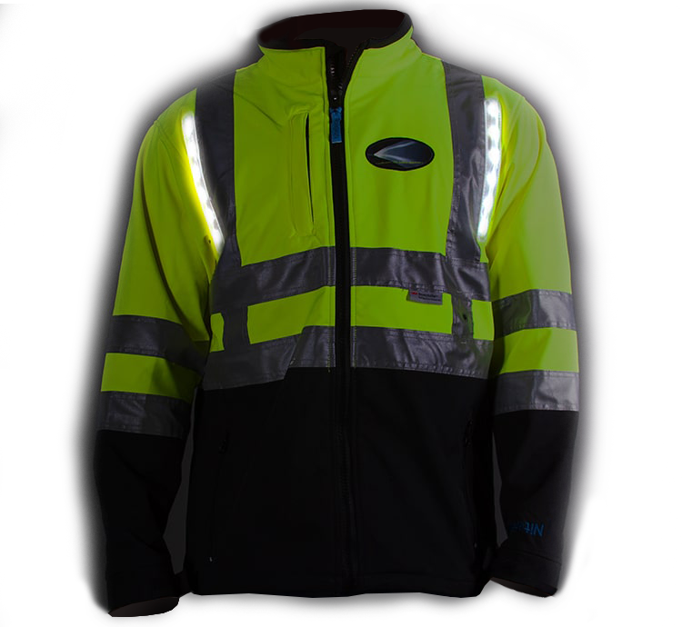 Bomber Jacket Nite Beams LED Lit Safety Gear