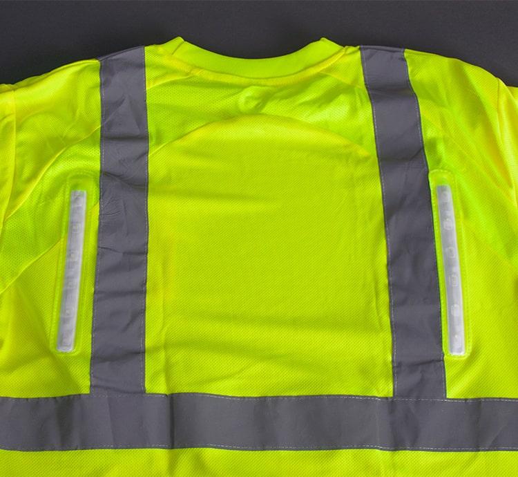 hi vis led mesh shirt back lights