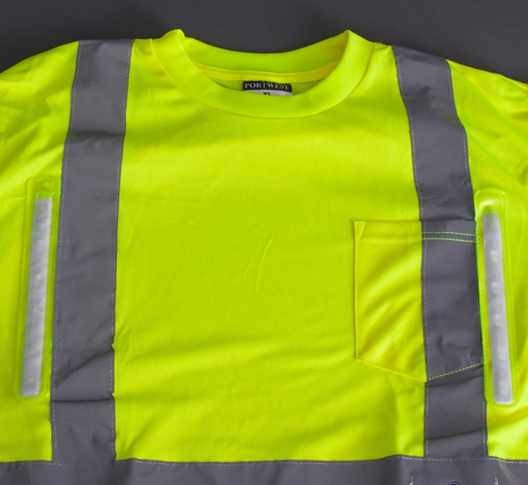 hi vis led mesh shirt front lights