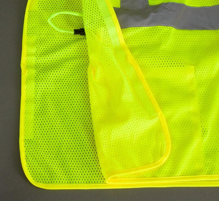 hi vis led safety vest break away side
