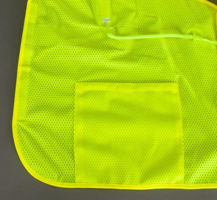 hi vis led safety vest inside pocket